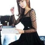 MAXI WITH BLACK KOREAN DRESS