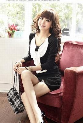 02 Mini DRESS TREND KOREA DRESS L13173 Black1 >Trend Fashion Baju Cewek Korea 2012