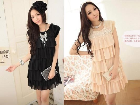 DRESS KOREA STYLE MODEL RUFFLE ATAU PEPLUMS