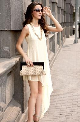 DRESS KOREA BAHAN CHIFFON