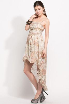 TREND DRESS KOREA DENGAN LONG TAIL HEM