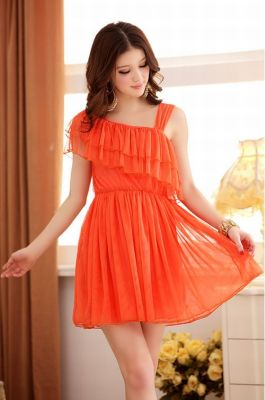 BAJU KOREA MODEL DRESS ONE SHOULDER