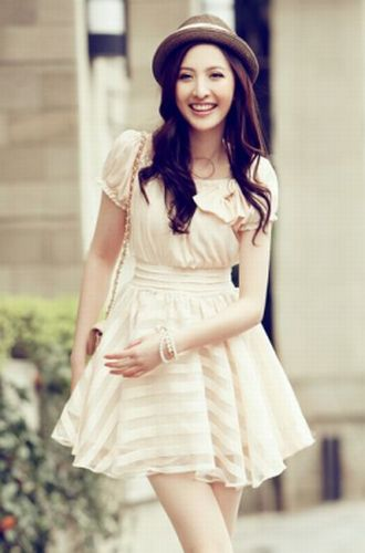 BAJU KOREA - DRESS CHIFFON KOREA