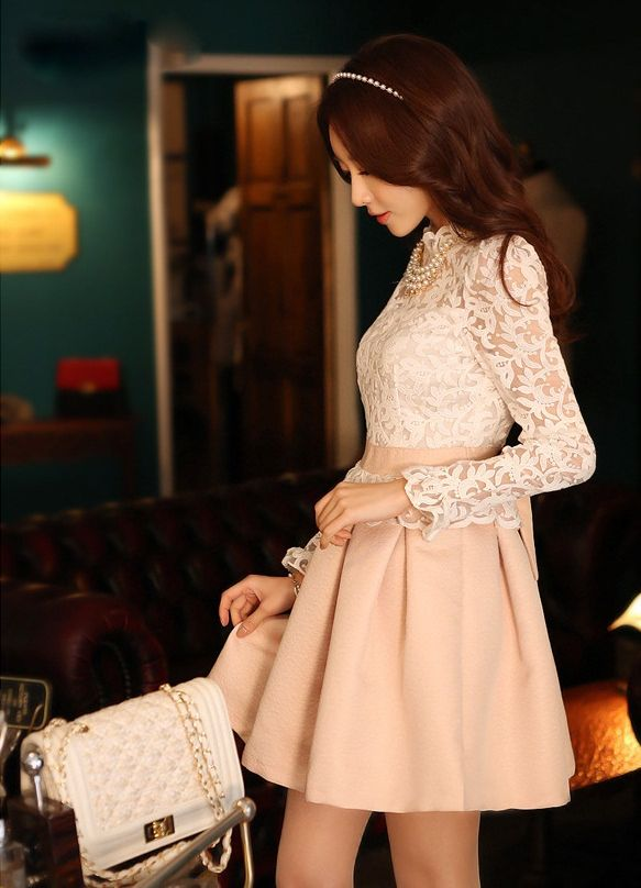 DRESS IMPORT KOREA STYLE - DRESS CANTIK KOREA - BUTIK FASHION