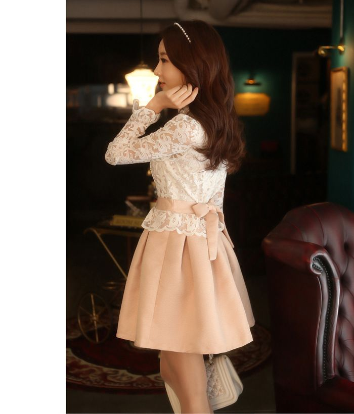 BUSANA WANITA KOREA STYLE - DRESS LACE KOREA