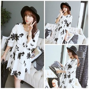 DRESS HAMIL KOREA  - BAJU VINTAGE ONLINE
