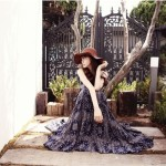 LONG DRESS KOREA – Chiffon Maxi Dress (JYY355029Green)