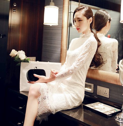 DRESS CANTIK KOREA - DRESS LACE KOREA