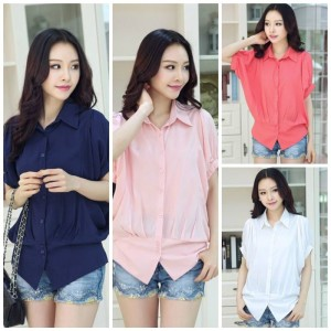 BUSANA KERJA WANITA – SEMI FORMAL BLOUSE (JYB20-2826(4-color) )