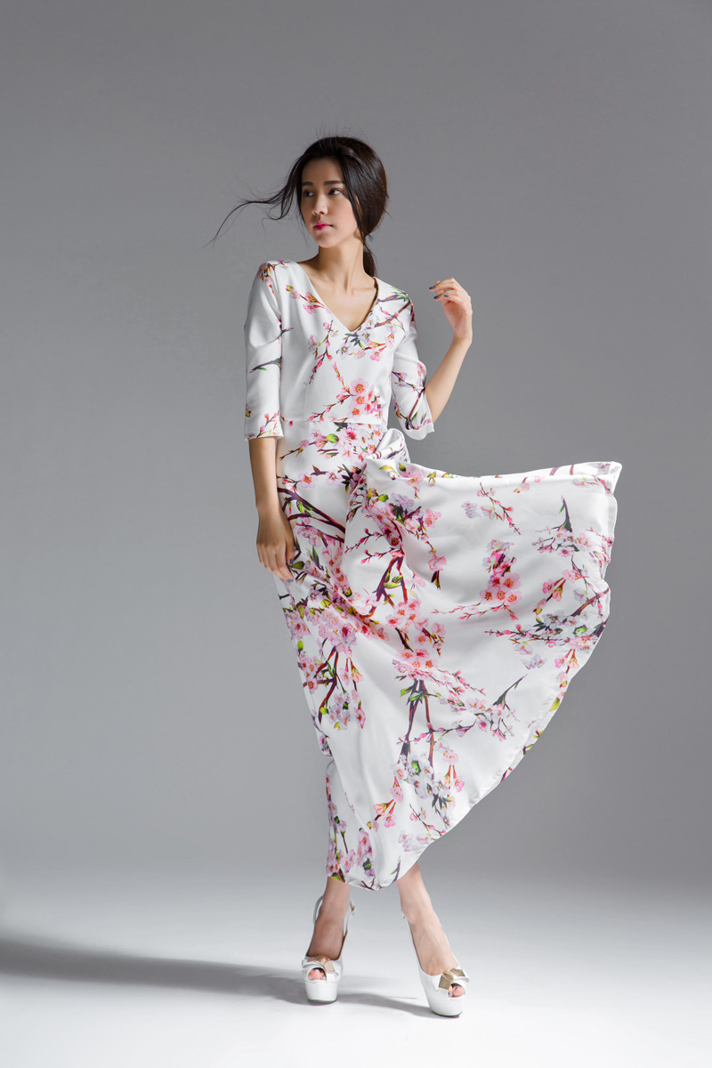 LONG DRESS WANITA KOREA - MAXI DRESS KOREA