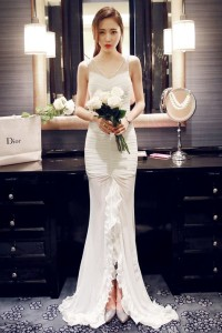 LONG DRESS PESTA – White Elegant Dress (R1862)