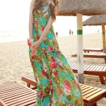 LONG DRESS CHIFFON KOREA – Blue Maxi Dress (F309931blue)