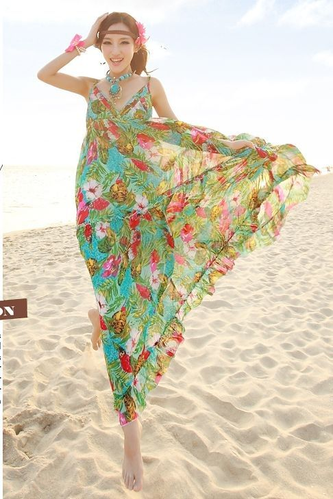 MAXI DRESS KOREA - LONG DRESS CHIFFON WANITA KOREA