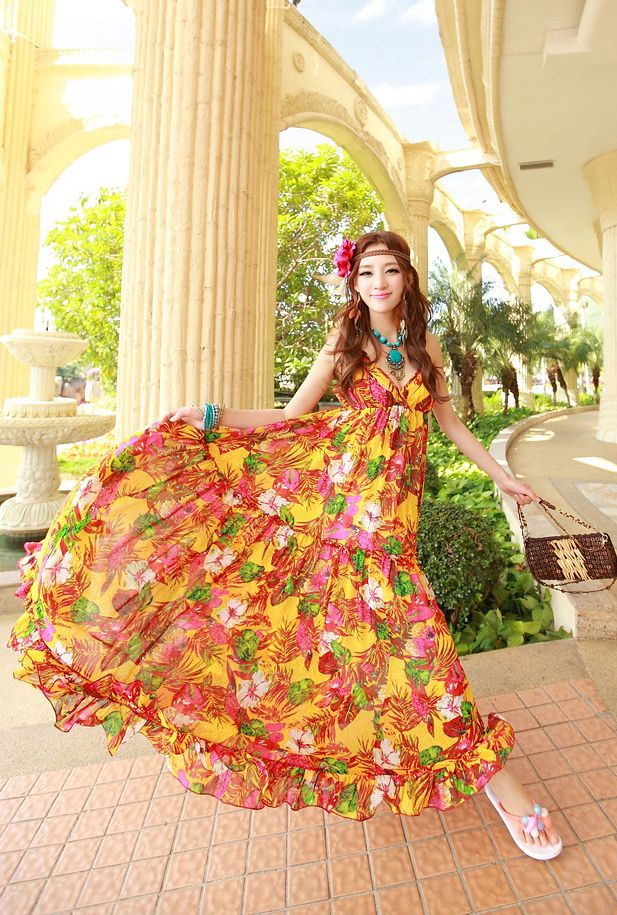 LONG DRESS KOREA STYLE - MAXI DRESS CHIFFON KOREA