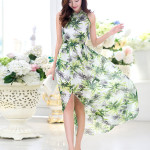 MAXI DRESS KOREA STYLE – Floral Chiffon Dress (JYB331538)