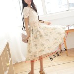DRESS CANTIK KOREA – FAKE 2Pcs Summer Dress (JYF24-1283Green)