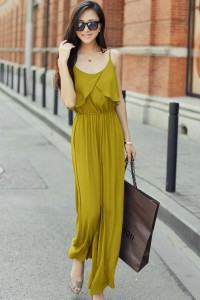 JUMPSUIT KOREA – Yellow Korean Bibpants (R65075Yellow)