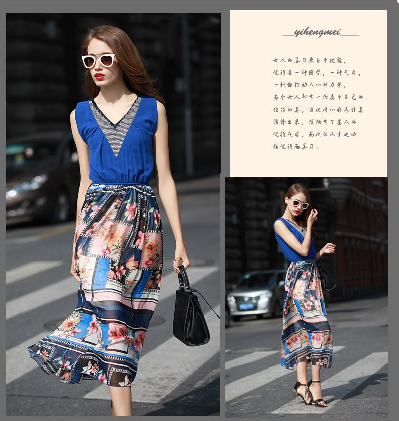 BAJU KOREA ONLINE - DRESS CHIFFON KOREA TERBARU