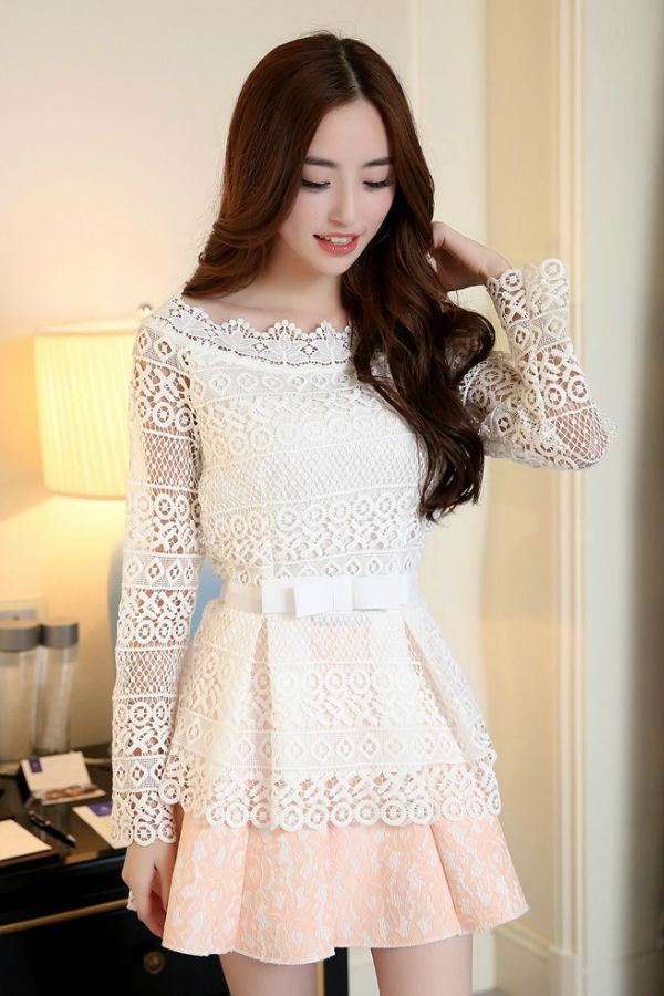 Dress Lace Korea Model Terbaru Dress Cantik Wanita Korea Baju