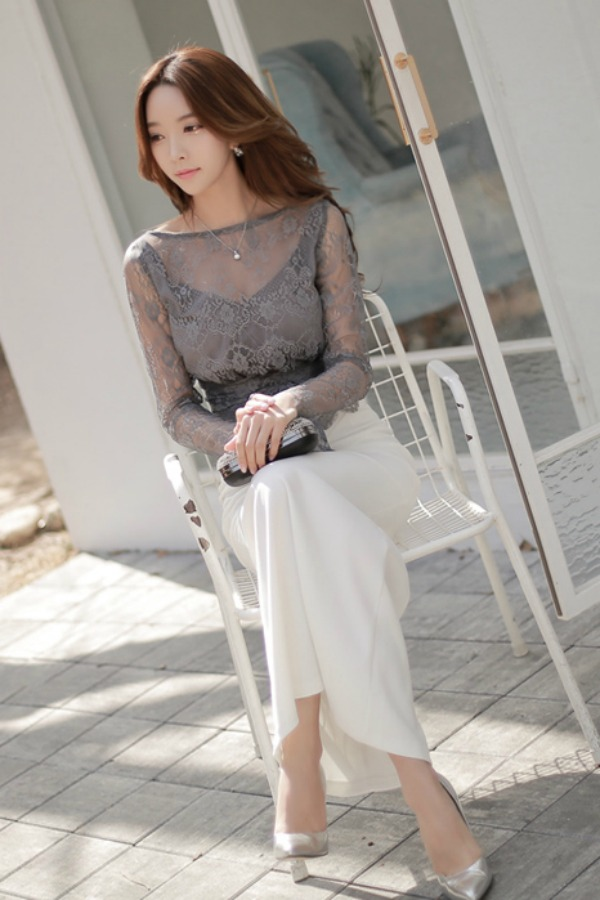 LONG DRESS IMPORT KOREA - LACE DRESS KOREA TERBARU
