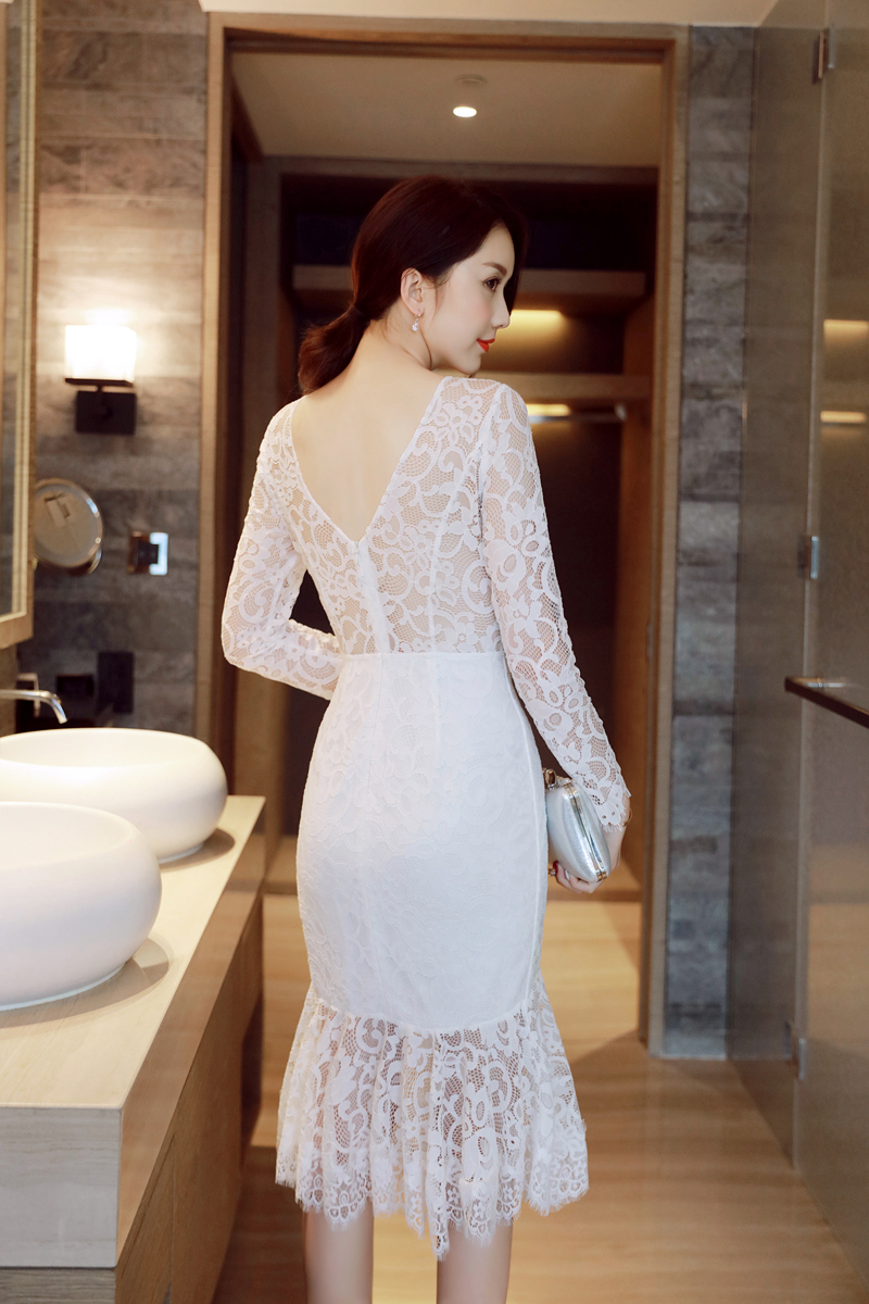 DRESS LACE KOREA - DRESS KOREA ASLI RJ STORY