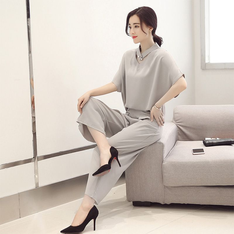 Baju Fashion Korea 2pcs Gray Set Pants