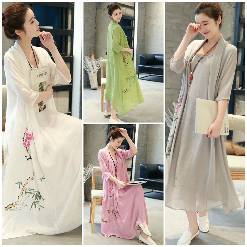 Summer Dress Maxi Dress Korea Long Dress Chiffon Korea Baju