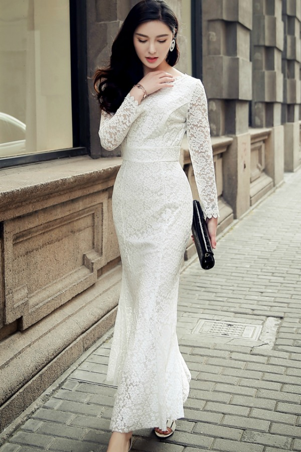 LONG DRESS IMPORT KOREA - DRESS LACE KOREA