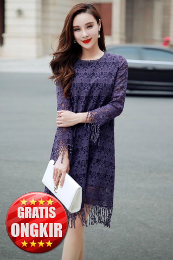 DRESS LACE IMPORT WANITA - BAJU BIG SIZE