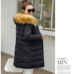 JAKET DOWN COAT BIG SIZE – Black Fur Down Coat (JYB331888 Black)