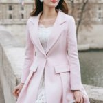 BLAZER WANITA KOREA – Pink Korean Long Coat (R65178Pink)