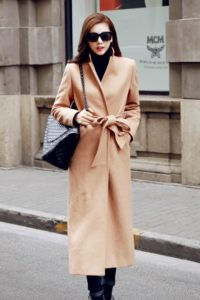 LONG COAT WANITA KOREA – LIGHTTAN WOOLEN COAT (R67251LightTan)