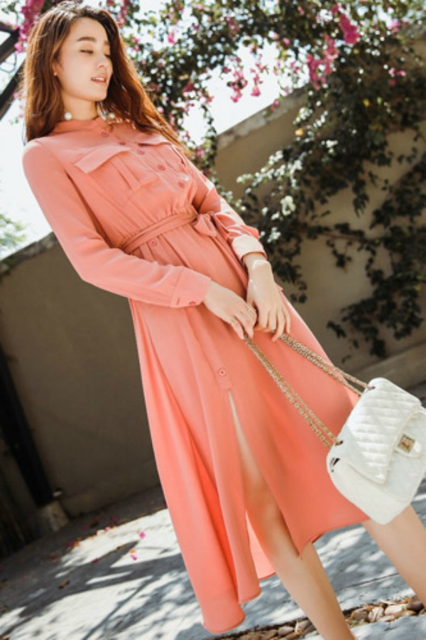 DRESS CANTIK WANITA - DRESS CHIFFON IMPORT KOREA