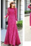 LONG DRESS LEOPARD IMPORT – Rose Leopard Chiffon Dress (JYJ178302Rose)