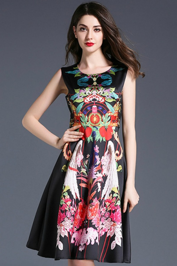 DRESS FLORAL - EMBROIDERY DRESS ZARA STYLE