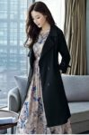 LONG COAT WANITA KOREA – Black Windbreaker Coat (JYW3621Black)