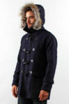 NAVY DETACHABLE HOODED MEN COAT – Winter Long Coat (JYY310717Navy-Men)