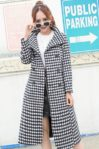 LONG COAT WANITA KOREA – White Houndstooth Coat (JYY176945White)