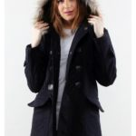 NAVY DETACHABLE HOODED WOMEN COAT – Winter Long Coat (JYY310717Navy-Women)