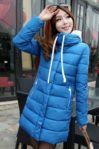 BLUE HOODED DOWN COAT – JAKET BULU KOREA(JYG000BF31 Blue)