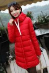 RED HOODED DOWN COAT – JAKET BULU KOREA(JYG000BF31 Red)