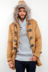 KHAKI DETACHABLE HOODED MEN COAT – Winter Long Coat (JYY310717Khaki-Men)