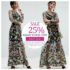 LONG DRESS FLORAL WANITA KOREA – Black Embroidered Long Dress (JYG19280)
