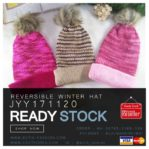TOPI RAJUT 2 SISI – 3 COLOR Reversible Knitted Hat(JYY171120)