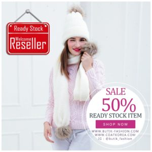 SET TOPI RAJUT & SCARF – 5 COLOR PomPom Fur Knitted Hat(JYY171103)