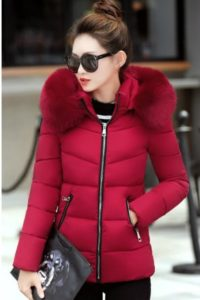 JAKET HOODIE BULU MUSIM DINGIN – LONG COAT IMPORT KOREA STYLE (JYC908Red)
