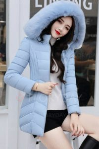 JAKET HOODIE BULU MUSIM DINGIN – LONG COAT IMPORT KOREA STYLE (JYC913Blue)